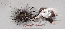 手绘人物网球运动员