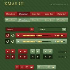 圣诞平面网页psd分层素材