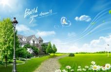 春季户外风景PSD素材下载