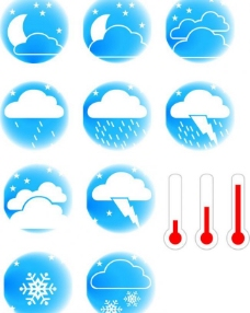 天气图标矢量图片