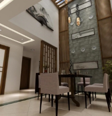 简中别墅餐厅图片