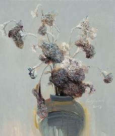 古典花卉油画图片
