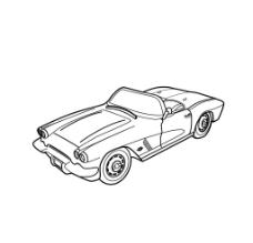 玩具车模型矢量图图片