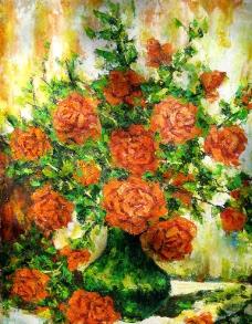 花朵油画图片
