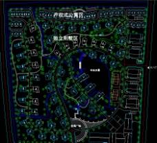 某别墅小区的总体规划图片