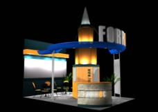 3D展览设计 展示模图片
