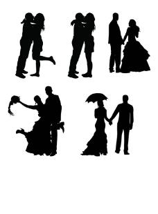 婚紗剪影圖片