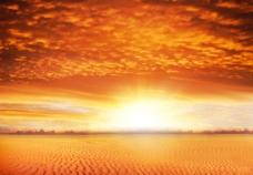 沙漠日出图片
