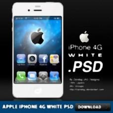 苹果iPhone 4G白PSD