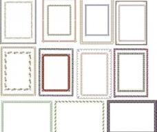 欧式边框图片抽象底纹