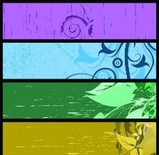 花纹花卉横幅图片