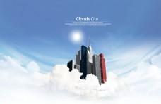 白云上的概念城市