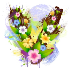 花卉字母圖片