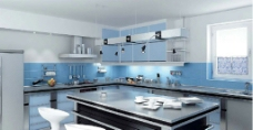 精品厨房模型图片