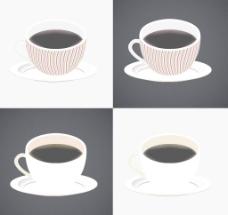 咖啡杯矢量图图片