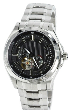 黑色高档机械手表图片