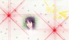 光影 古典美女 星星图片