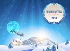 蓝色圣诞背景图片