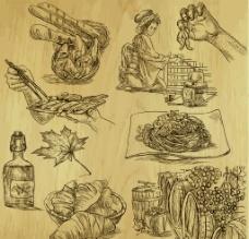 手绘食物图片