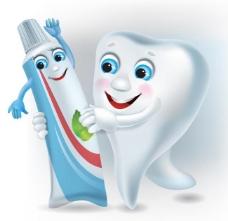 卡通牙齿图片