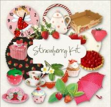 草莓茶杯 生活用品圖片