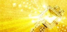 金黄钻石手表图片