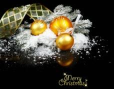 圣诞装饰品高清特写图片